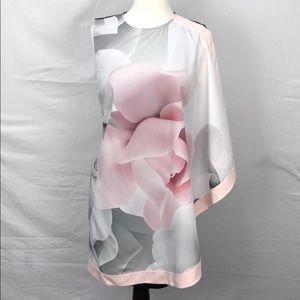 Ted Baker Lizeey Porcelain Rose Tunic Dress